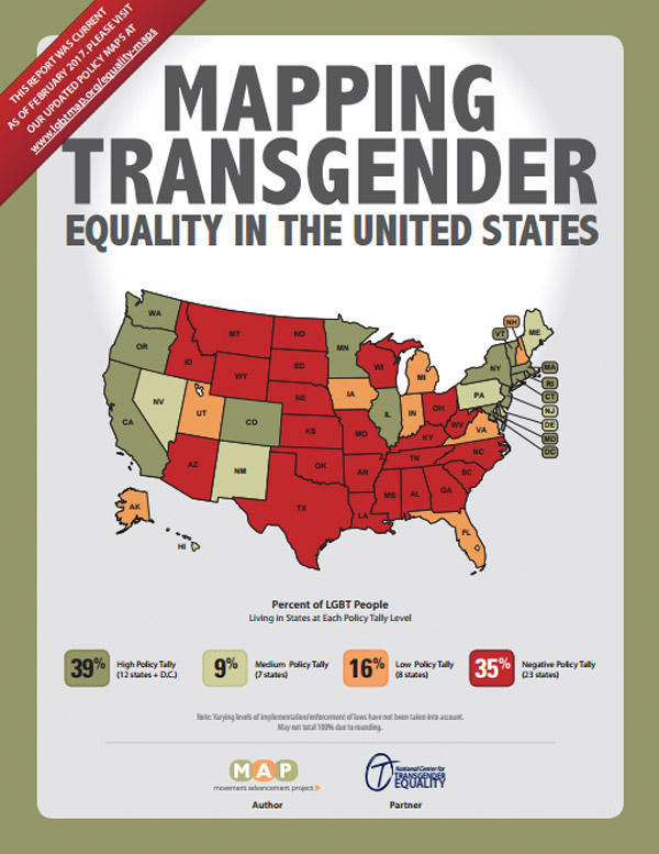 Movement Advancement Project Mapping Transgender Equality In The - Transgender map of us