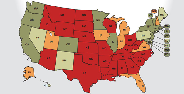 National Equality Map Transgender Law Center - Transgender map of us