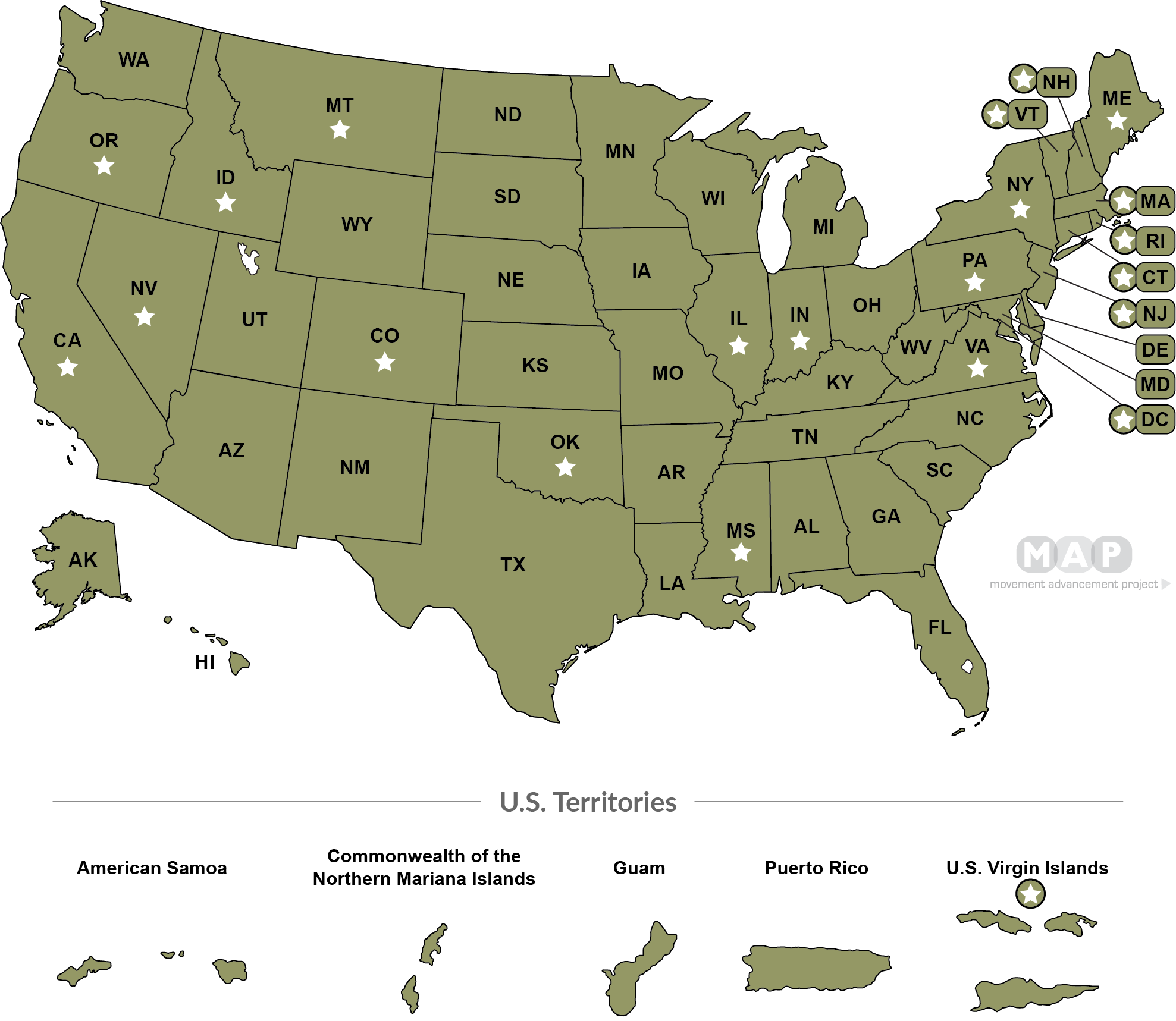 Second-Parent Adoption Laws. United States Map