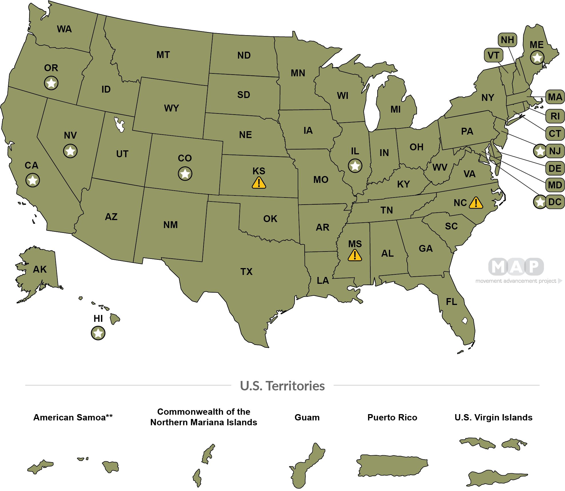 Gay Marriage States Map Movement Advancement Project | Marriage & Relationship Recognition  Gay Marriage States Map